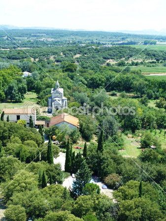 Countryside near Montmajour abbey, Provence, France