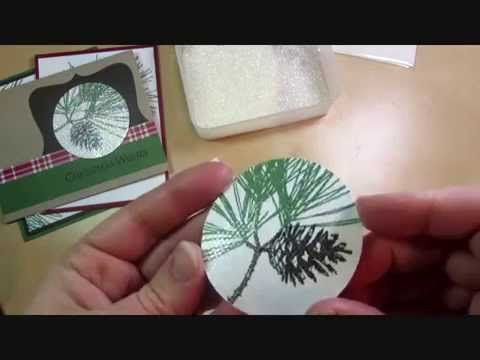 VIDEO Tip: Glittered Image with Stampin' Up! Ornamental Pine #christmas #stampinup www.juliedavison.com