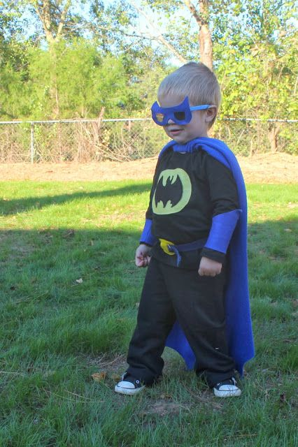 diy toddler batman costume