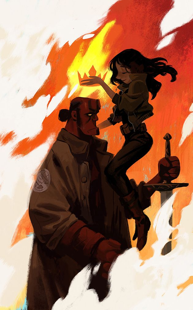 Hellboy and Liz Sherman by Mingjue Helen Chen