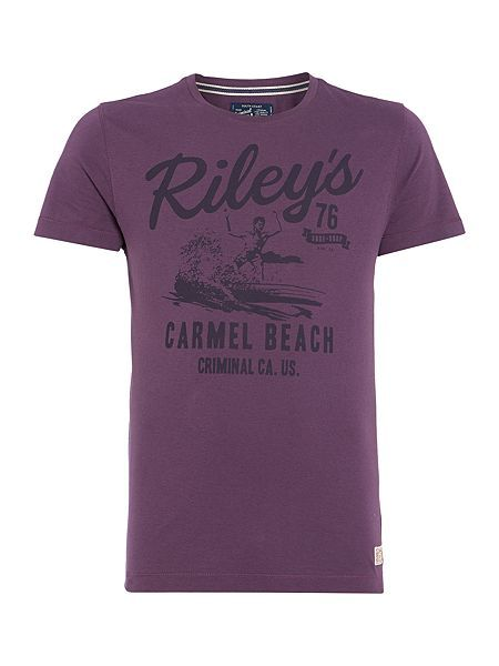 riley`s beach graphic t-shirt