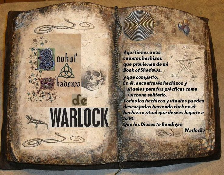 Book of Shadows de Warlock Wicca Solitario
