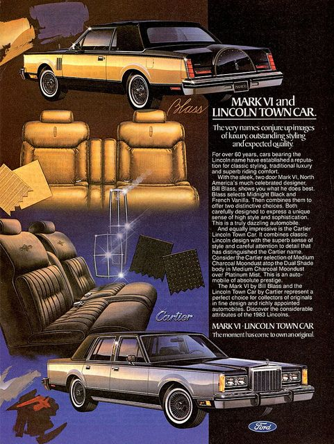 I owned a  1983 Lincoln Town car sedan (I had the exact color scheme as the black & silver Town car pictured here).