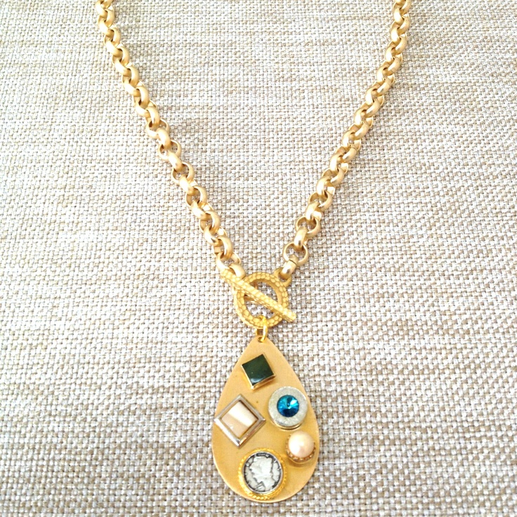 Facebook Jewelry Auction Sneak Peek! Get this Laura James Jewelry vintage necklace for a STEAL tonight via our Facebook Page here: https://www.facebook.com/pages/Laura-James-Jewelry/27714429264