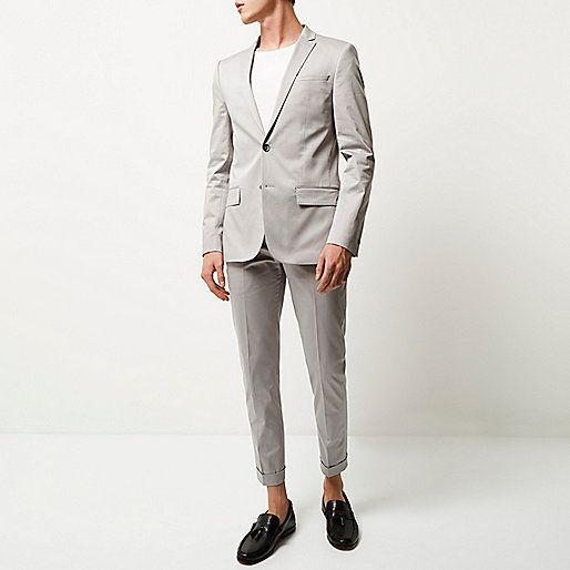 Ri limited edition jacket 80, trousers 40 Ecru skinny suit jacket