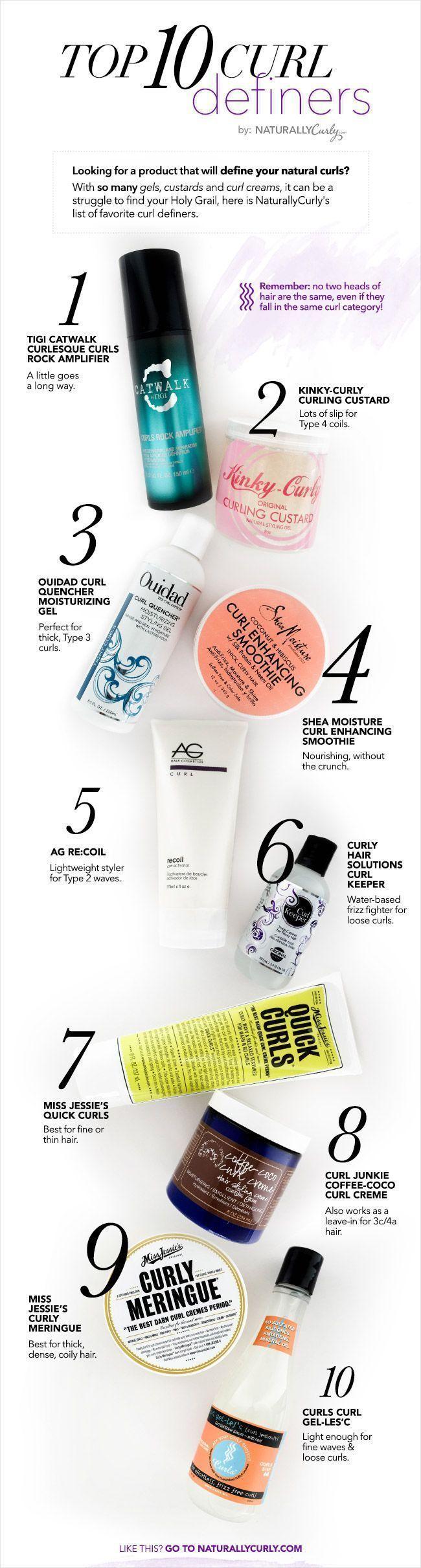 Die besten Produkte, um Locken für IHRE natürliche Haartextur zu definieren! ….