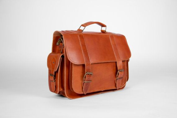 Leather Satchel Handmade Leather Messenger Bag 13 by MagusLeather
