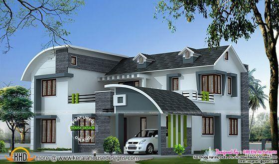 244 sq-yd modern home