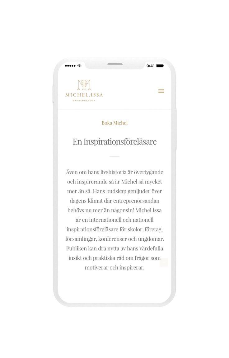 Typography on iphone x for the entrepreneur website  — Typografi för entreprenör hemsida