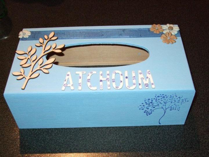 135 best bo te mouchoirs images on pinterest tissue - Decoration boite en bois ...