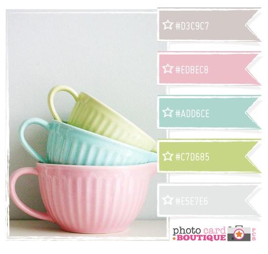 pretty teacup colors  Color Palette - Paint Inspiration- Paint Colors- Paint Palette- Color- Design Inspiration