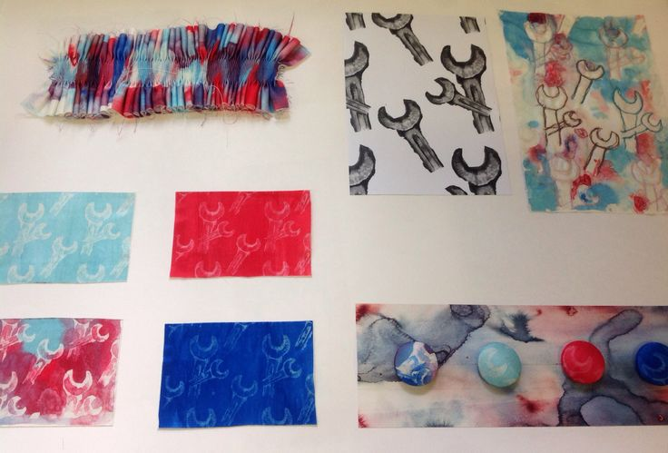 Dysperse dye samples textiles A Level Cardinal Newman College Charlotte Halstead