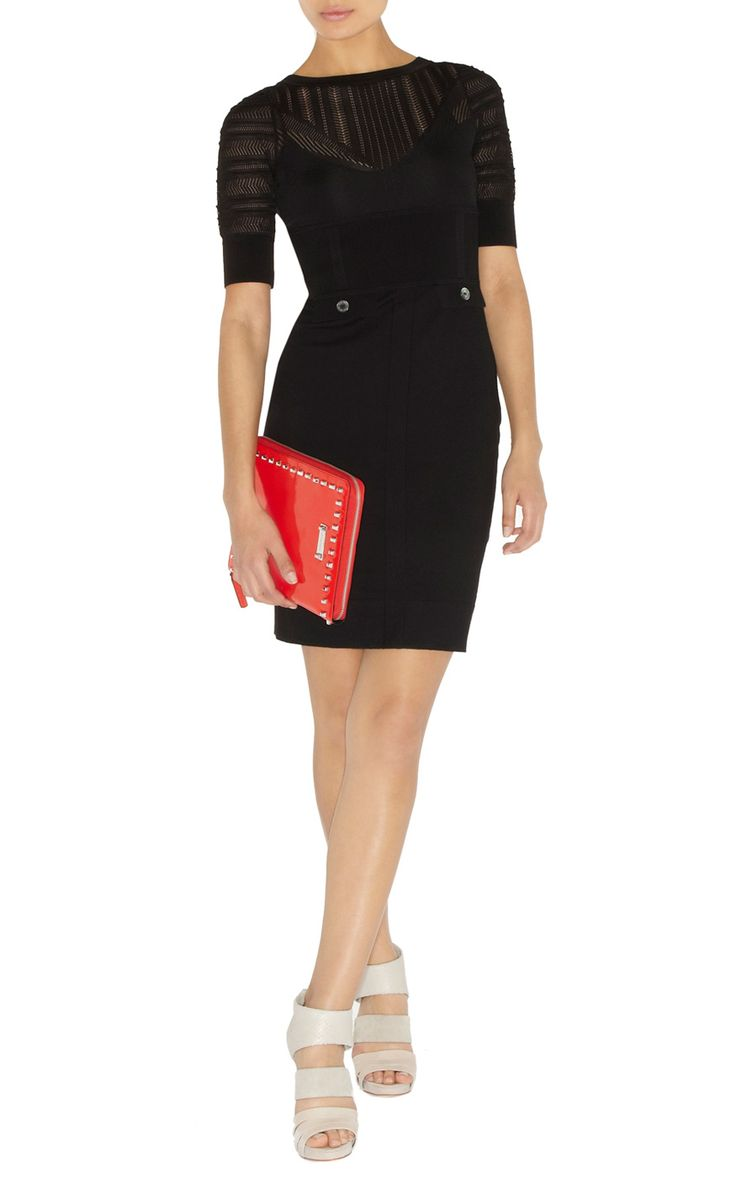 Black dress karen millen - Details About Karen Millen Kn084 Lace And Stretch Knit Dress Black