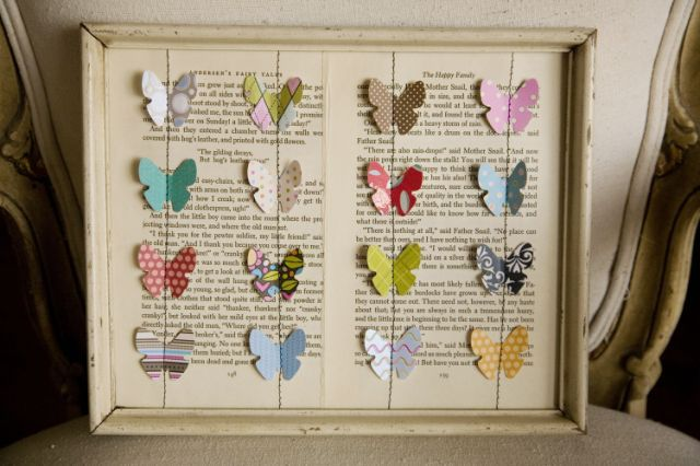 Vintage Movement: Scrap Booking Meets Vintage Up-cycling - Butterfly Shadow Box