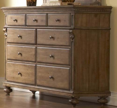 Eastover Traditional Neutral Gray Driftwood Finish Drawer Dresser 812 64 X 20 X 44h My New