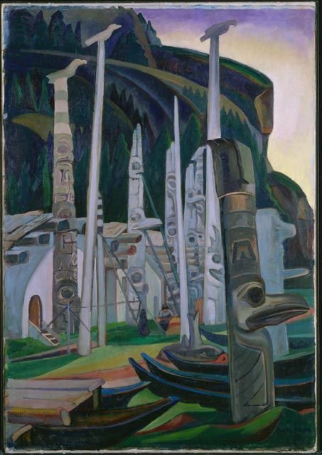 """""""Heina,"""" Emily Carr, 1928, oil on canvas, 51 x 36"""", National Gallery of Canada."""