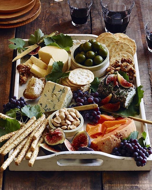 Cheese board goals via @whatsgabycookin #foodandwine
