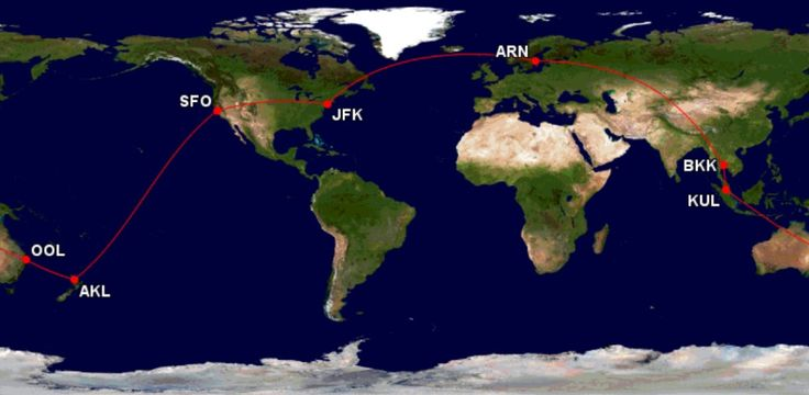 Around the World for $1073 (Stockholm, Bangkok, Kuala Lumpur, Auckland)