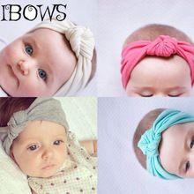 nios de la manera caliente nudo diadema venda del pelo de headwear del beb de punto