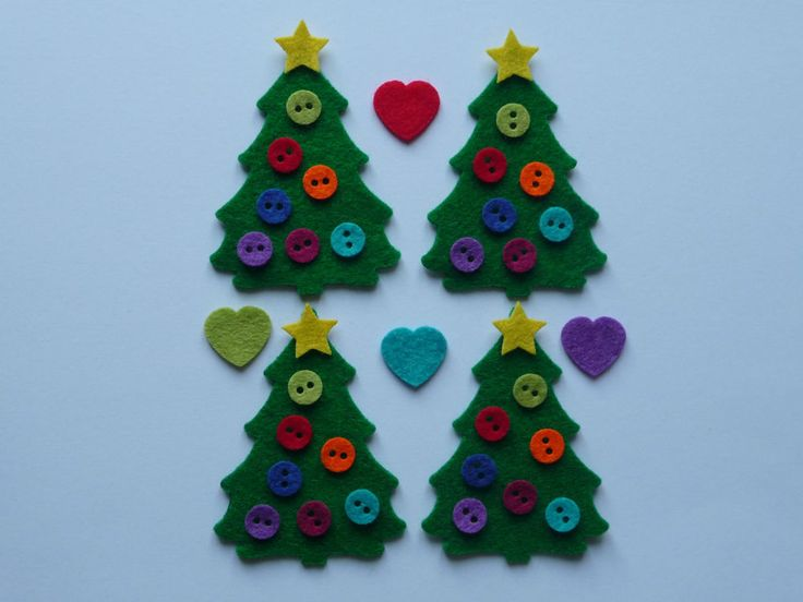 Felt Christmas tree shapes