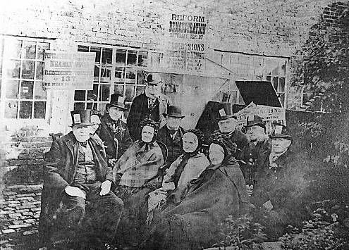 Peterloo Massacre | photograph of the Failsworth veterans, taken in 1883