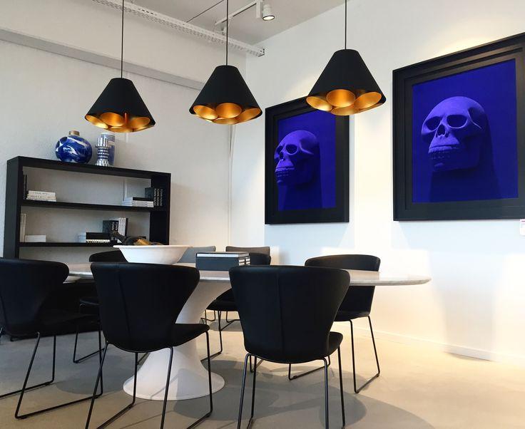 LGTM | Let's go to the moon. DARK #lighting #darlings #blackgold #design #suspended #fixture #lgtm #interiordesign #homestyle #vanhyfte dark.be