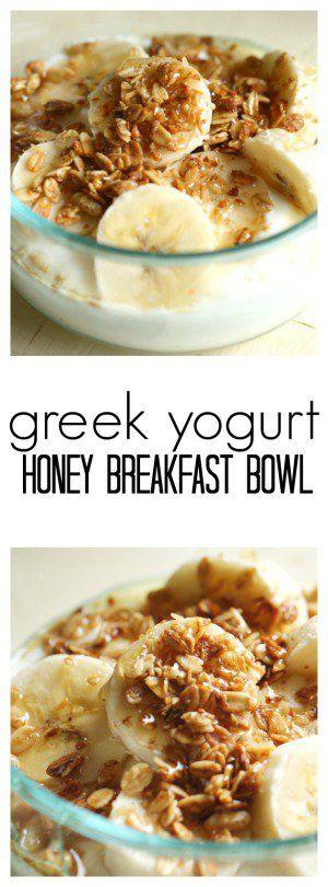 Greek Yogurt Honey Breakfast Bowl from Six Sisters' Stuff | Healthy Breakfast Recipe | Easy Breakfast