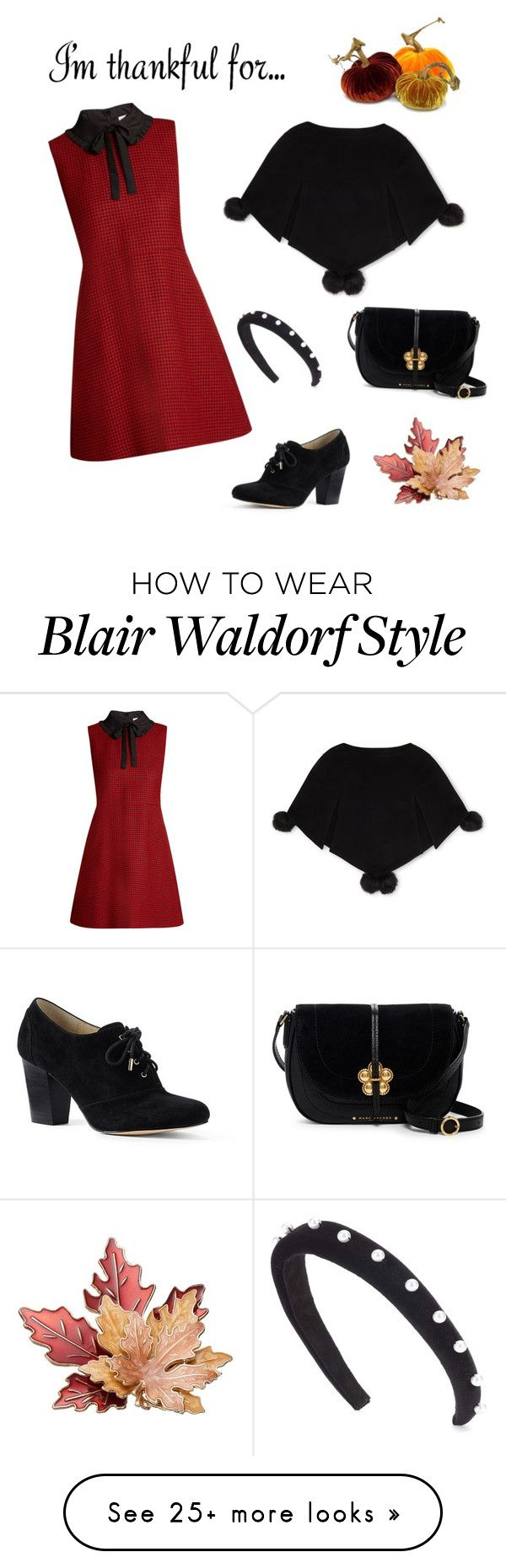 """""""Blair Waldorf thanksgiving"""" by britavares on Polyvore featuring Lands' End, RED Valentino, Marc Jacobs, Altuzarra and Henri Bendel"""