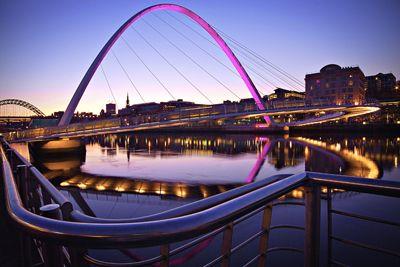 The Millennium Bridge, Gateshead. A great shot by Ken Wilson.