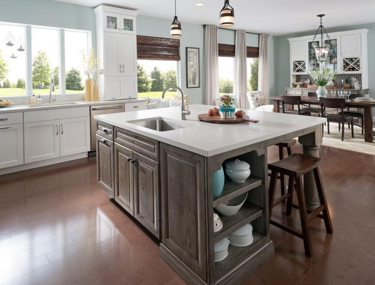 Medallion at Menards Cabinets | Dining Island with Open ...