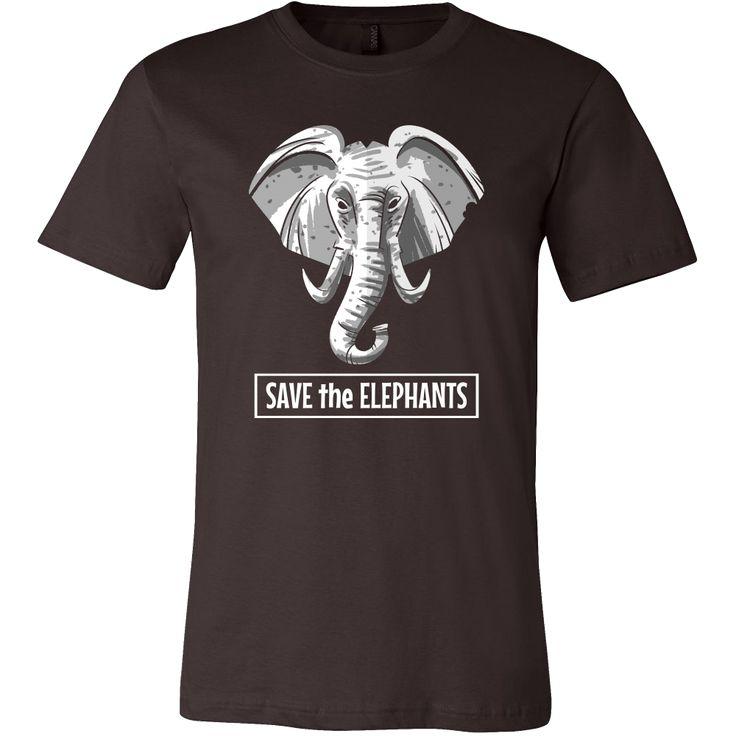 Save The Elephants, Cute Elephant, Wild Animal T-shirt