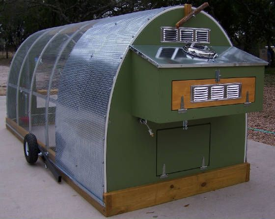 140 best images about chicken coops on pinterest hoop for Mobile chicken coop plans