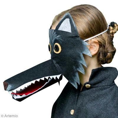 DIY Máscara de lobo para Carnaval