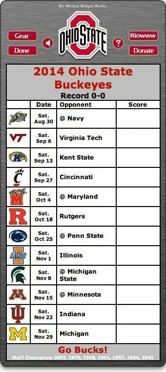 Schedule/score keeper