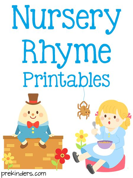 These printable nursery rhyme posters and activity cards can be used in your preschool classroom. Read the Terms of Use Nursery Rhyme Posters These posters come in color and blackline. Usefor poetry books, charts, posters, or other uses. These are the updated versions — the previous versions are below. Click the buttons below to download and print. The posters below are the oldversions. Click the picture of each nursery rhyme