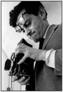 Richard Avedon with his Rolleiflex.