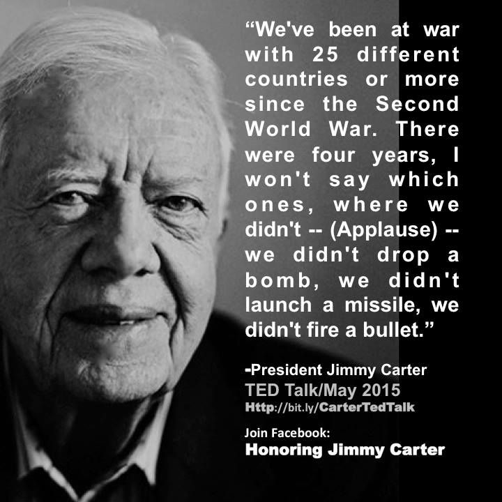 Jimmy Carter turns 91 on Thurs. Oct.1st. We'd like to help the team of Honoring Jimmy Carter to spread the message of the arguably the most peaceful President of the USA ever.
