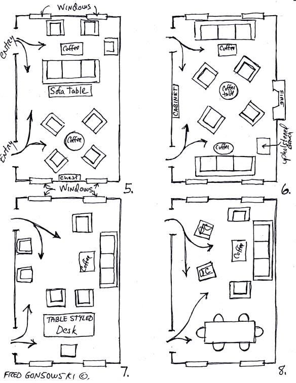 When It Comes To Arranging Furniture In A Room Most People Will Come Up With One Or Tw Dining Room Layout Living Room Floor Plans Living Room Furniture Layout