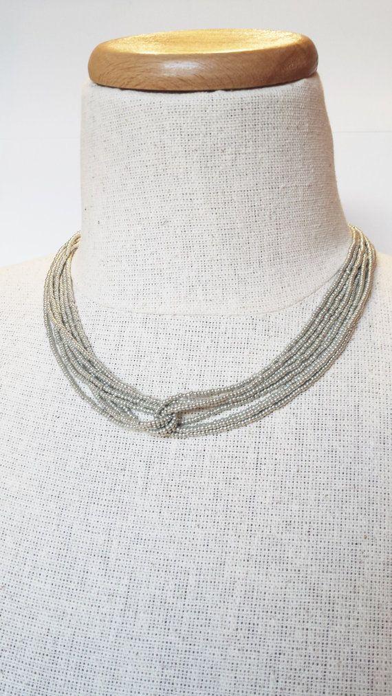 Zilveren ketting metalen ketting grijze door StephanieMartinCo