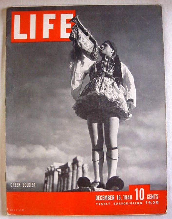 1940 December 16 LIFE Magazine -  Narvik, Norway - Greek Evzone - Child Refugees