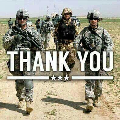 Thank you to those brave men and women who risked their lives/risk their lives for me and this country