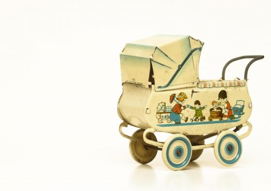 Vintage Baby Carriage Toy.