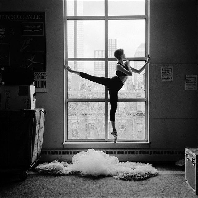 #Ballerina - @ivanadance #ballerinaproject_ #ballerinaproject #ballet #dance #Boston #window #Leggings by @wolfordfashion #Wolford
