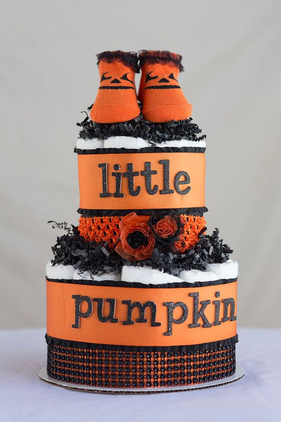 Baby Gifts For Halloween : The quot sassy little pumpkin diaper cake special treat for
