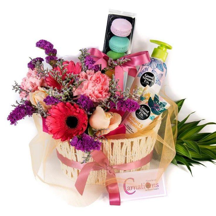Flowers gift basket flower gift gift baskets i love