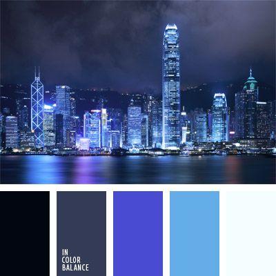 azul muy oscuro, azul oscuro con tono violeta, celeste neón, color azul turquí, colores para la decoración, matices del azul oscuro, negro azulado, paleta de colores monocromática, paleta del color azul oscuro monocromática, paletas de colores para decoración, paletas para un