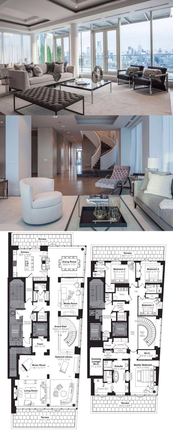 Museum House Toronto Penthouse Luxury Floor Plans Condo Floor