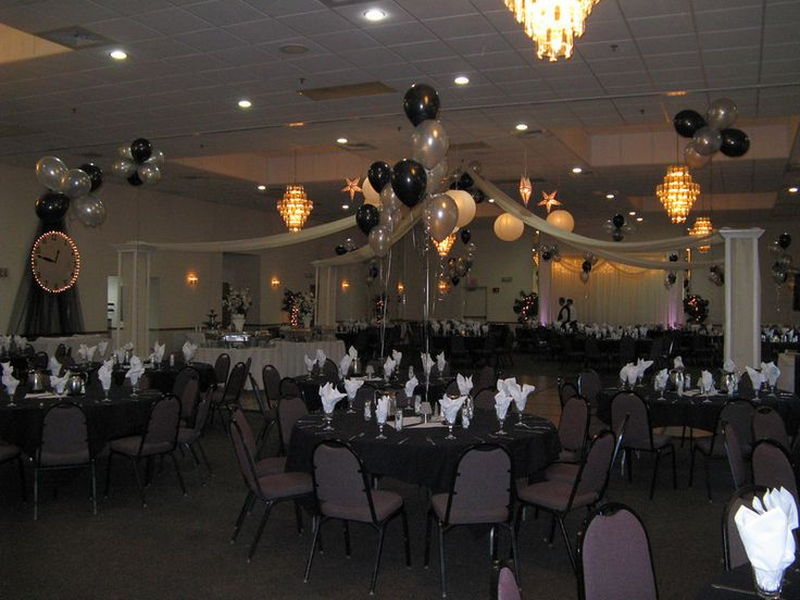 black and white prom theme | Silver and Black Prom- The ...