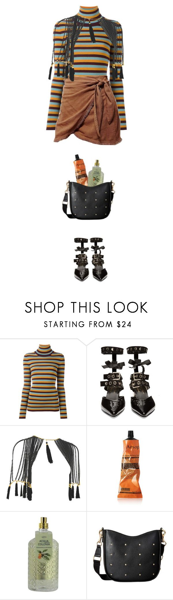 """Neutral Tones #2"" by lunevilleoswald ❤ liked on Polyvore featuring I'm Isola Marras, Robert Clergerie, Aesop, 4711 and Tommy Hilfiger"