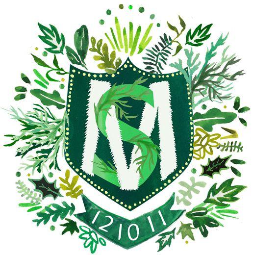 Custom Heraldry, aka monogram. i love the creative monogram.: Happymenocal, Wedding Gift, Monogram, Crests, Happy Menocal, Illustration, Wedding Invitations, Custom Heraldry, Family Crest